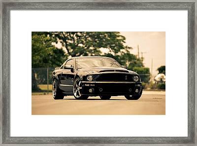 Black Mustang Framed Print by Art Work