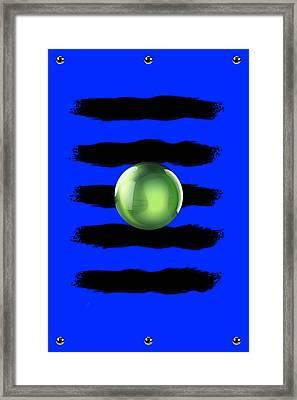 Black N' Blue Framed Print by Brian Lyne