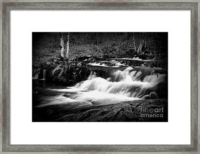 Black N White Cascades Framed Print