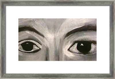 Black N White Eyes Framed Print by Juliann Sweet