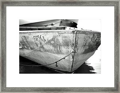 Black N White Row Boat Framed Print by Thomas Fouch