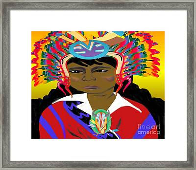 Black Native American Indian Framed Print