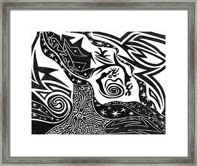 Black Night Framed Print by Kerri White