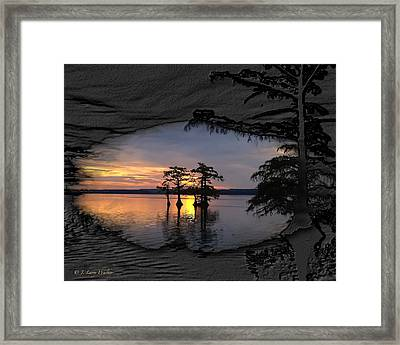 Black Night Sunrise Framed Print
