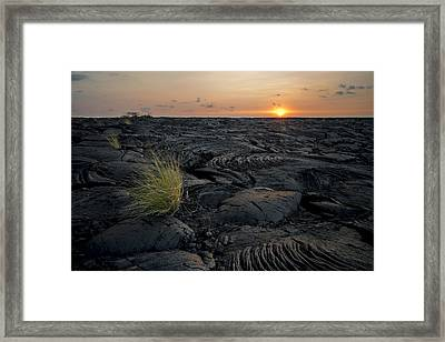 Framed Print featuring the photograph Big Island - Black Ocean by Francesco Emanuele Carucci