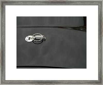 Black Old Car Detail Framed Print by Odon Czintos