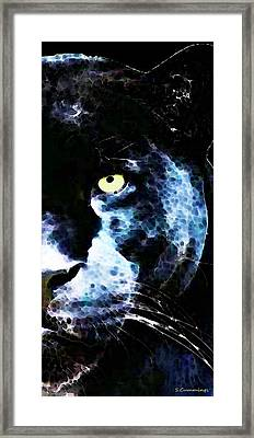 Black Panther Art - After Midnight Framed Print by Sharon Cummings