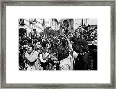 Black Panther Funeral Framed Print by Underwood Archives Adler