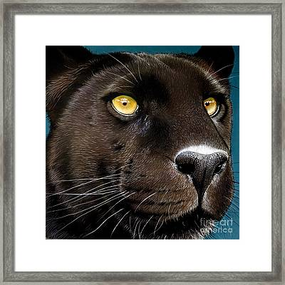 Black Panther Framed Print by Jurek Zamoyski
