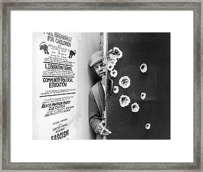 Black Panther Raid Framed Print by Underwood Archives