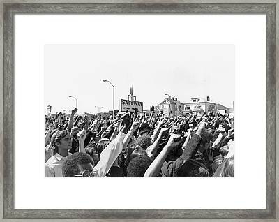 Black Panther Rally Framed Print by Underwood Archives Adler