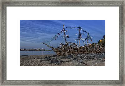 Black Pearl Pirate Ship Framed Print by Paul Madden
