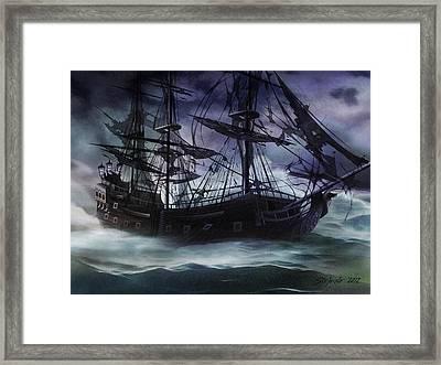 Black Pearl - Troubles Again Framed Print
