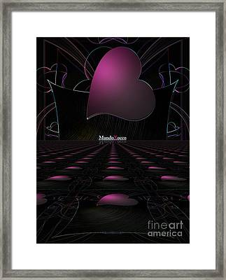 Black Pink Luv Line Framed Print