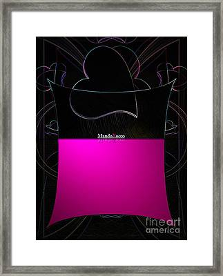 Black Pink Luv Framed Print