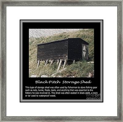 Black Pitch Storage Shed Framed Print by Barbara Griffin