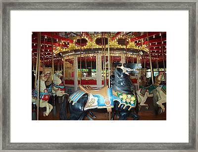 Framed Print featuring the photograph Black Pony by Barbara McDevitt