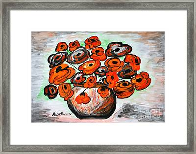 Black Poppies Framed Print by Ramona Matei