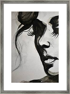 Black Portrait 16 Framed Print