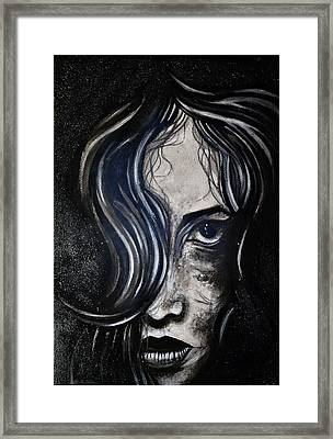 Black Portrait 5 Framed Print