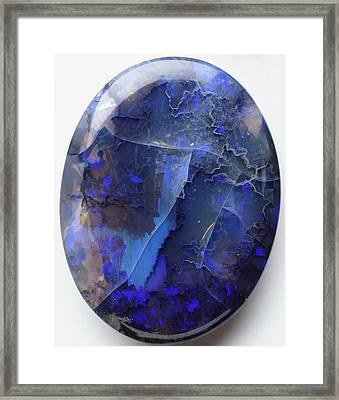 Black Precious Opal Framed Print by Dorling Kindersley/uig