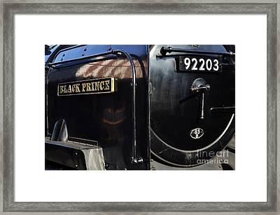 Black Prince Framed Print by Simon Pocklington