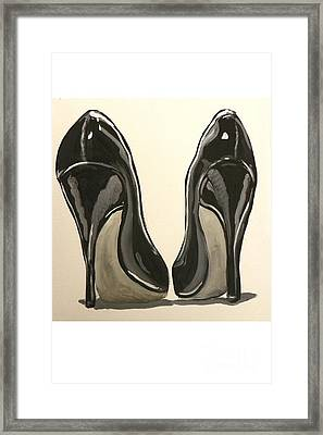 Black Pumps Framed Print