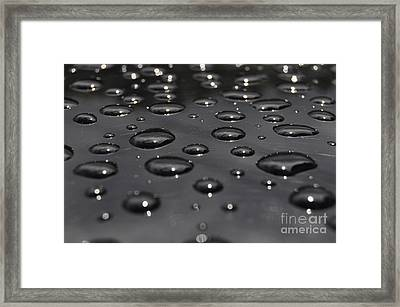 Black Rain Framed Print