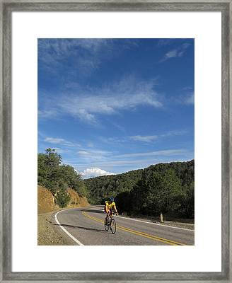 Black Range Biker Framed Print by Feva  Fotos