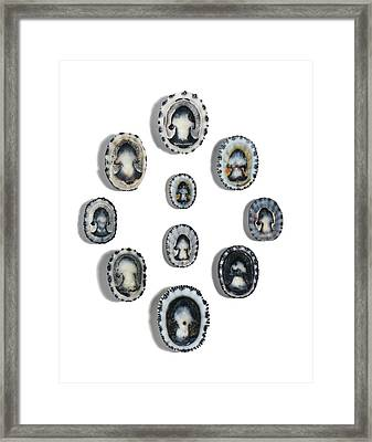 Black-ribbed False Limpet Shells Framed Print