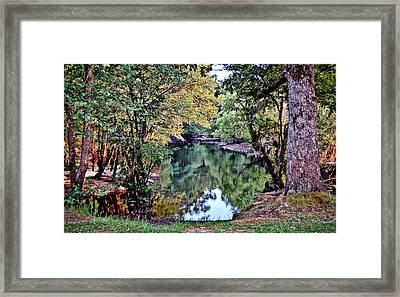 Framed Print featuring the photograph Black River Reflections by Linda Brown