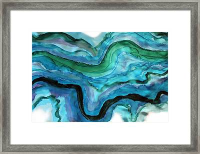 Black River Framed Print by Wendy Boomhower