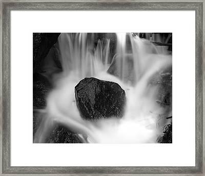 Black Rock And Water Yosemite Framed Print
