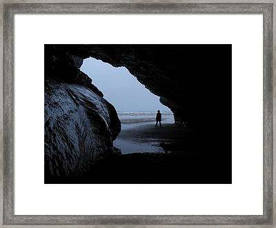 Black Rock Cave Framed Print