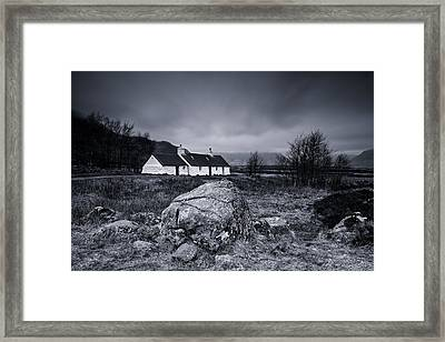 Black Rock Cottage - Glencoe Framed Print