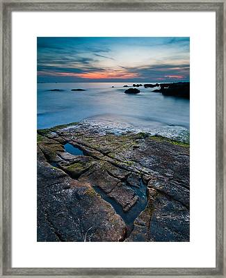 Black Rock Framed Print by Davorin Mance