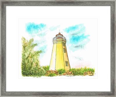 Black Rock Harbor Lighthouse - Connecticut Framed Print by Carlos G Groppa