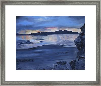 Black Rock Framed Print by Jane Autry
