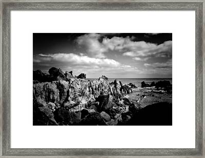 Black Rocks 3 Framed Print