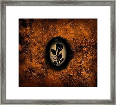 Framed Print featuring the painting Black Rose by Persephone Artworks