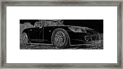 Black S2000 Framed Print