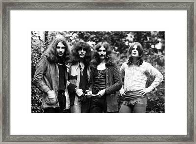 Black Sabbath 1970 Framed Print by Chris Walter