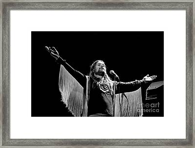 Black Sabbath Ozzy 1977 #2 Framed Print by Chris Walter