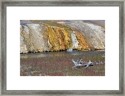 Black Sand Basin Runoff Yellowstone Framed Print by Bruce Gourley