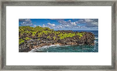 Black Sand Beach Maui Hawaii Framed Print by Edward Fielding