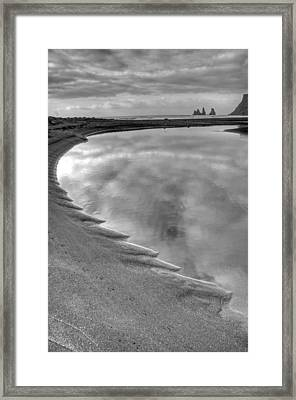 Black Sand Icelandic Beach Framed Print by Claudio Bacinello