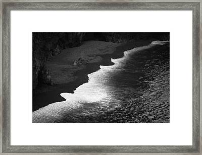Framed Print featuring the photograph Black Sands by Brad Brizek
