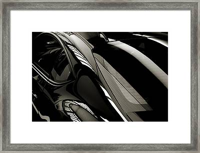 Black Satin Framed Print by Bob Wall
