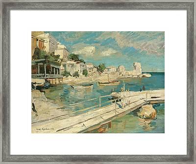 Black Sea Coastal Scene Framed Print by Konstantin Korovin