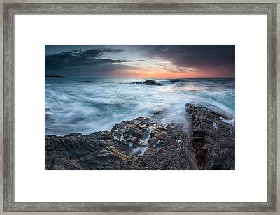 Black Sea Rocks Framed Print